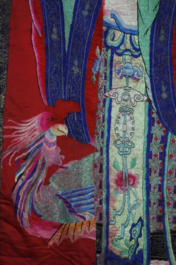 A Chinese Emboroidery of Ma Gu Xian Shou - 8