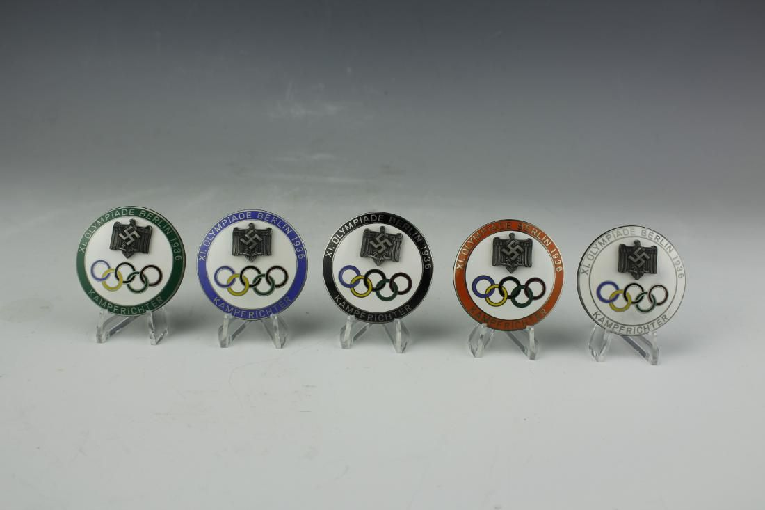 1936 XI Berlin Olympic Kampfrichter Judge Badges