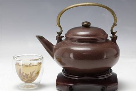 A Purple Sand TeaPot from Late Qing Dynasty GongJu Mark