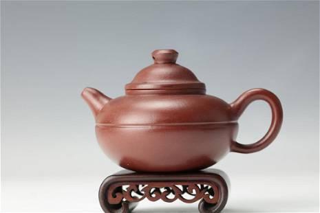 A Purple Sand Tea Pot with Panqinfang Mark