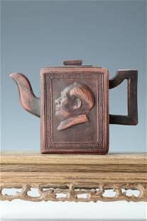 A Rectangle Shape Tea Pot of Chairman Mao with