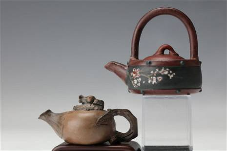 Two Purple Sand Tea Pots
