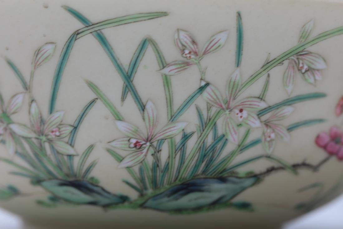 A Pair of Floral Famille Verte Bowls with DaoGuang Mark - 5