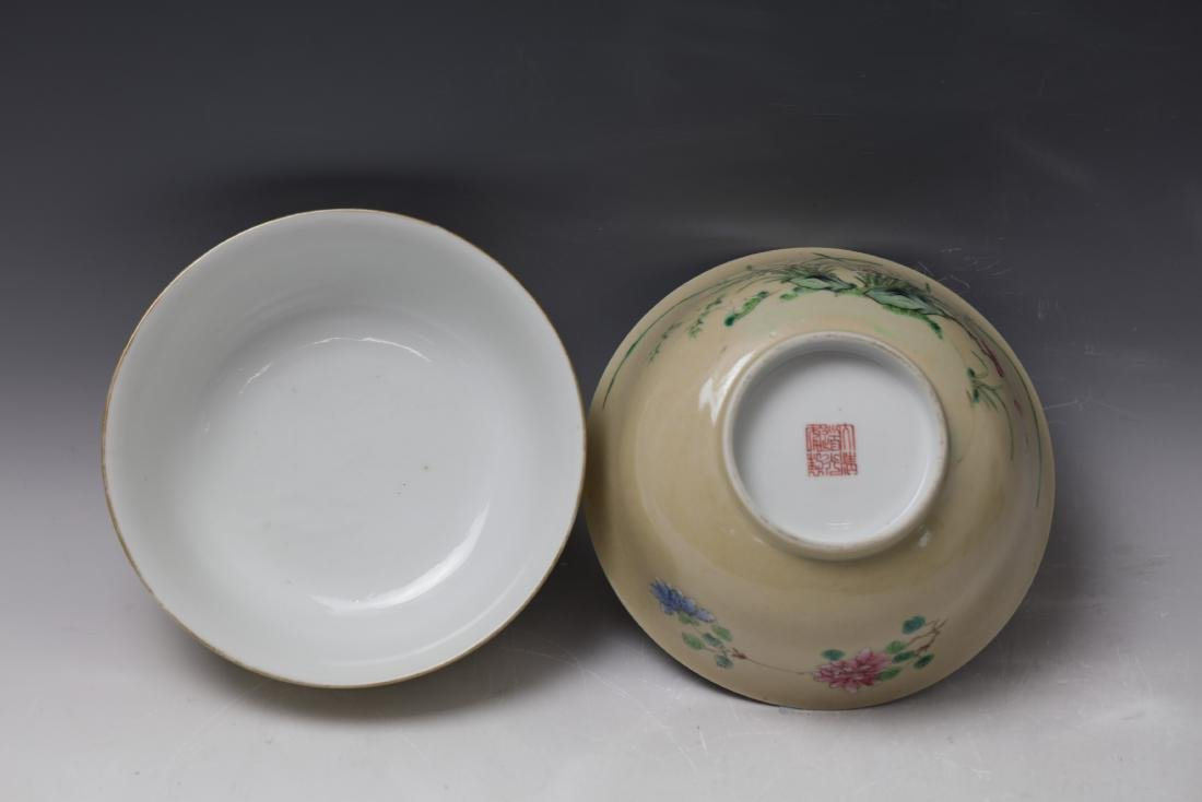 A Pair of Floral Famille Verte Bowls with DaoGuang Mark - 6