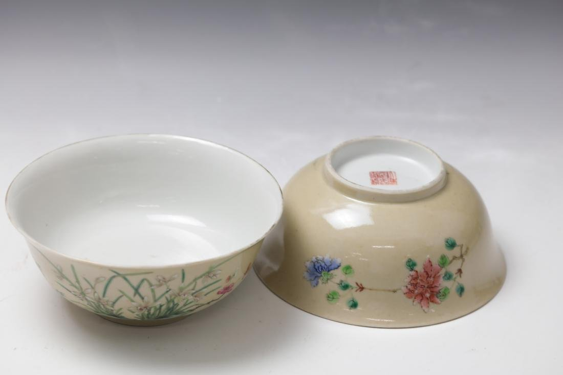 A Pair of Floral Famille Verte Bowls with DaoGuang Mark - 7