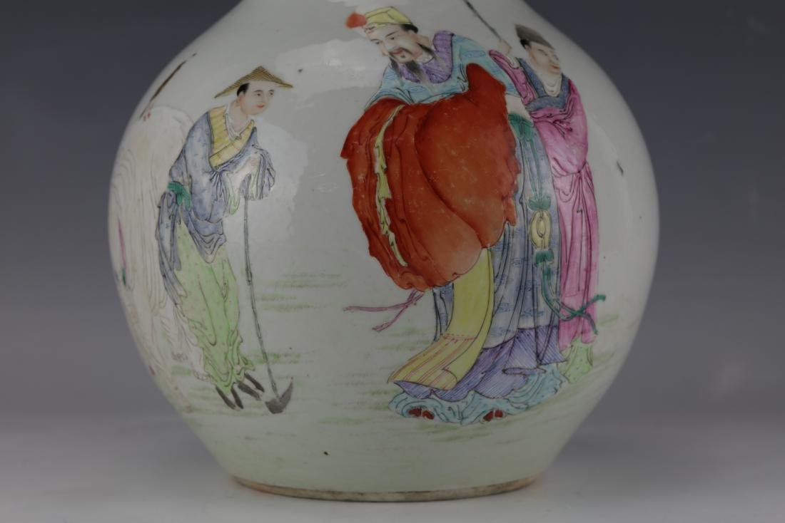 A Chinese Famille Rose Vase with Qianlong Mark - 2