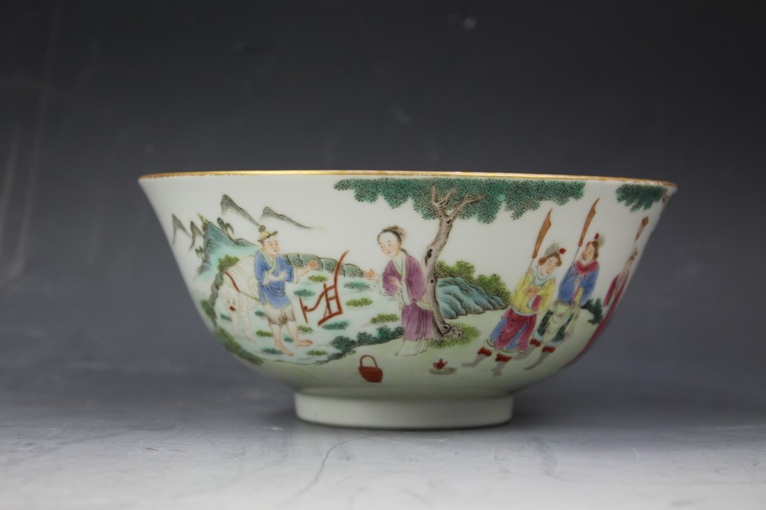 A CHINESE FAMILLE Rose PORCELAIN Bowl w Jiaqing Mark