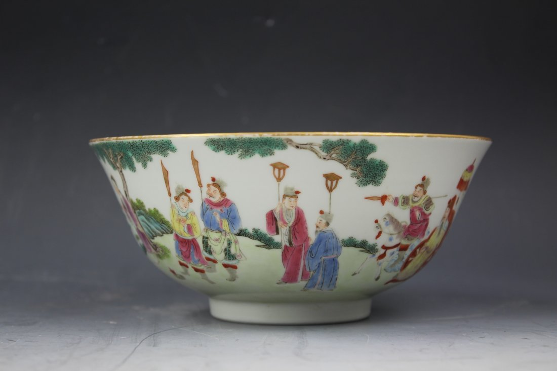 A CHINESE FAMILLE Rose PORCELAIN Bowl w Jiaqing Mark - 2