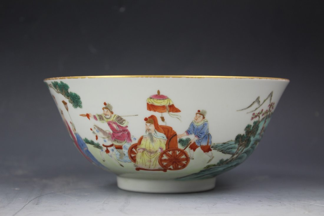 A CHINESE FAMILLE Rose PORCELAIN Bowl w Jiaqing Mark - 3