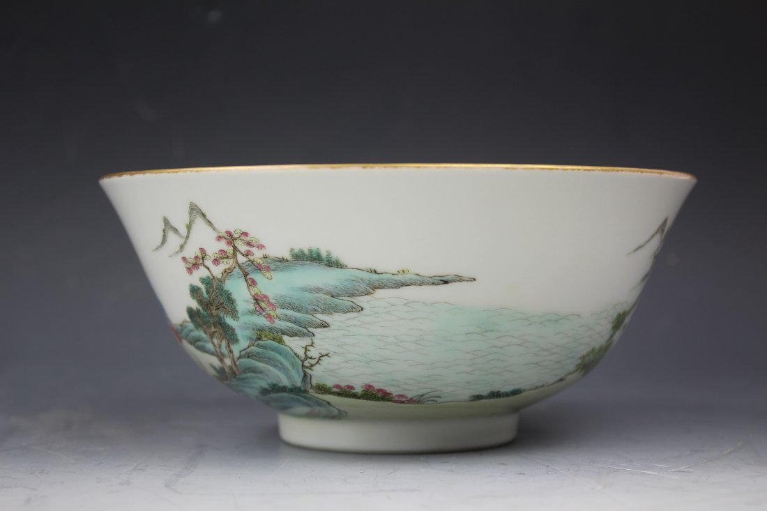 A CHINESE FAMILLE Rose PORCELAIN Bowl w Jiaqing Mark - 4