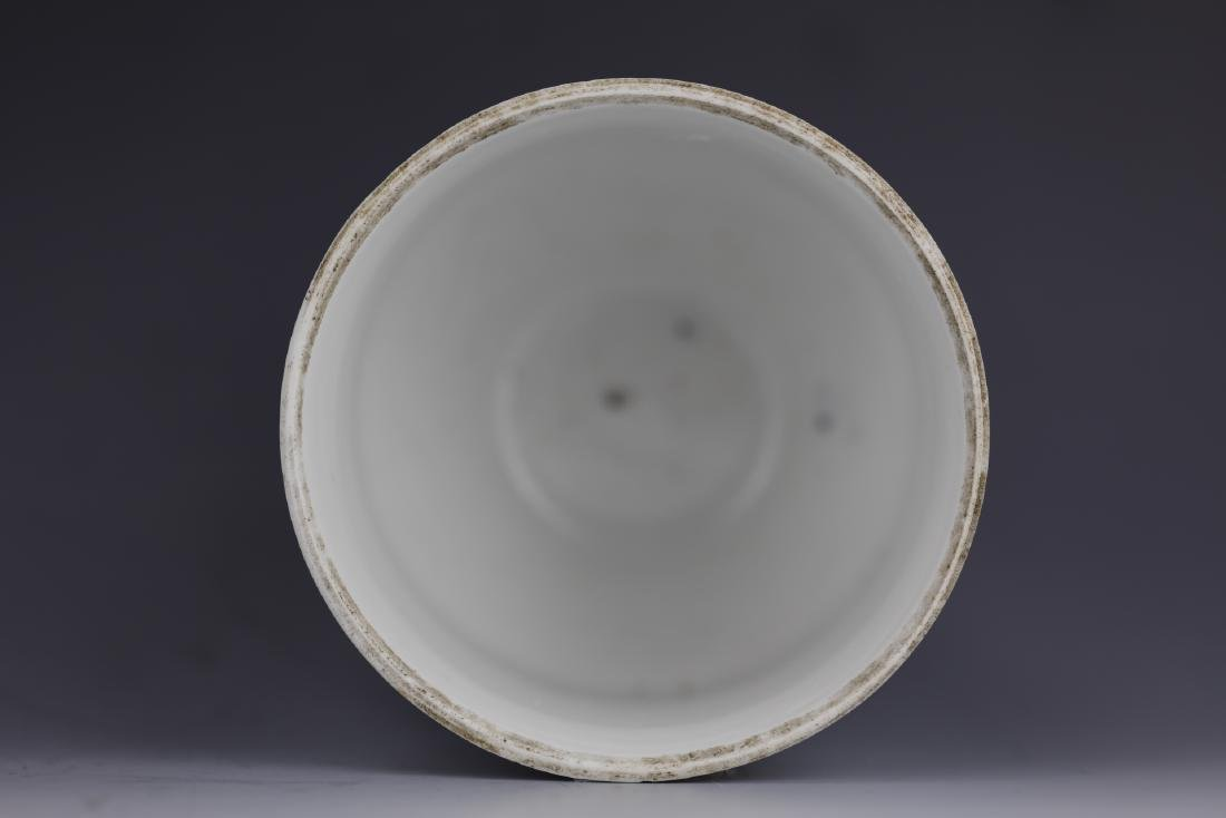 A Chinese Blue White Porcelain Pot With Cover - 7
