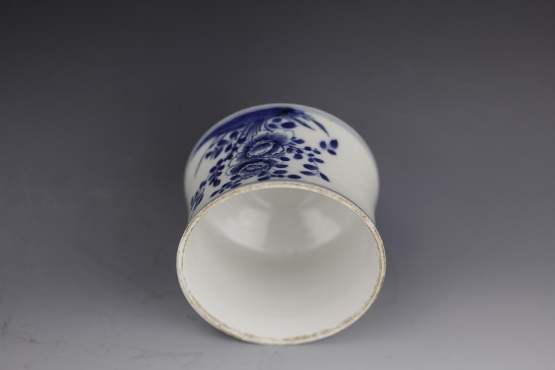 A Chinese Blue White Porcelain Pot With Cover - 8