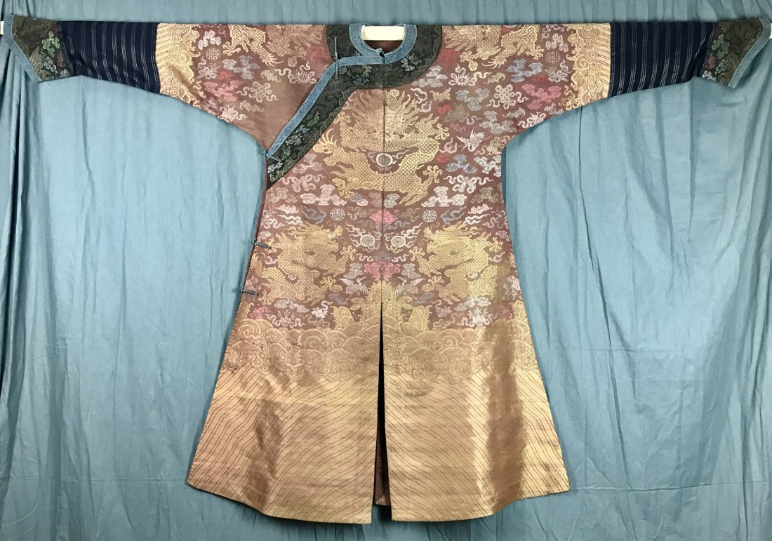 Fine Chinese 19th Century Imperial Dragon Robe