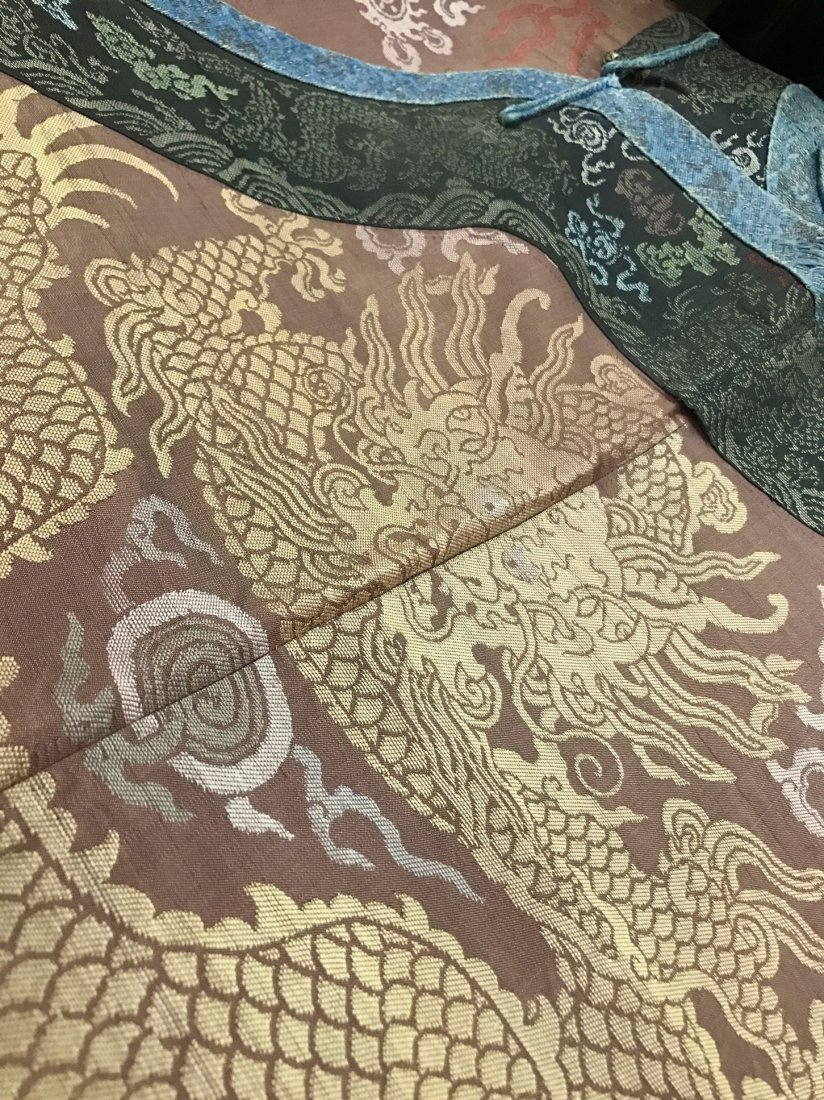 Fine Chinese 19th Century Imperial Dragon Robe - 3