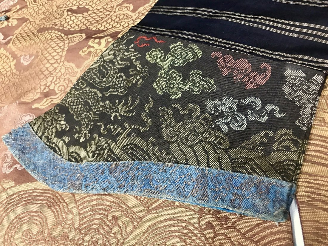 Fine Chinese 19th Century Imperial Dragon Robe - 8
