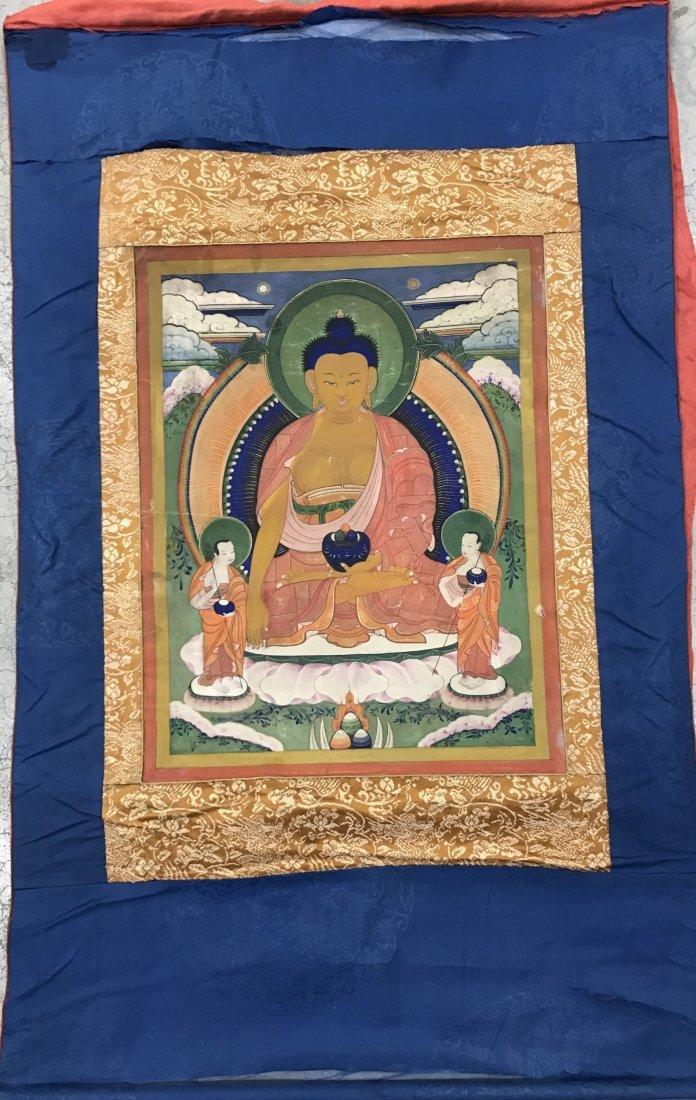 Fine CHINESE 19th Century Tangka of Sakyamunt - 2