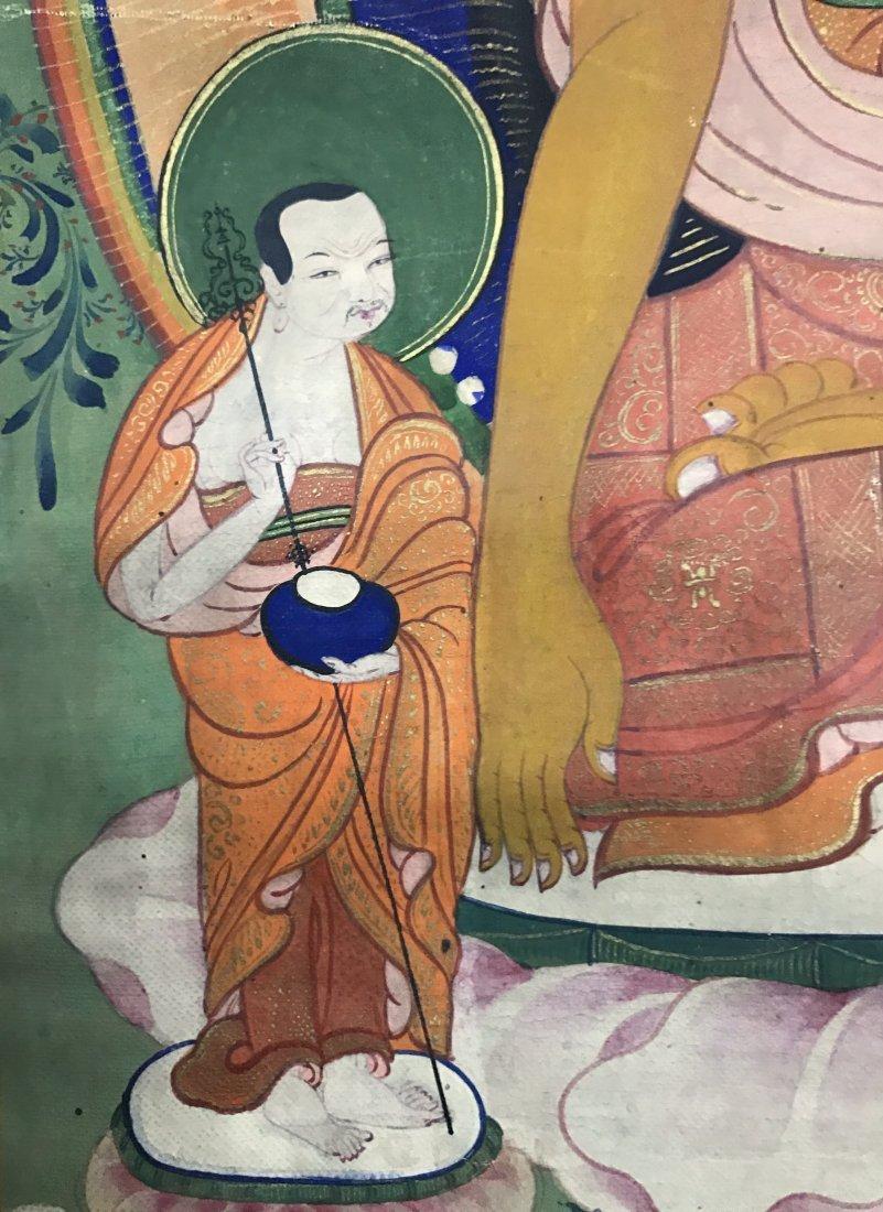 Fine CHINESE 19th Century Tangka of Sakyamunt - 4