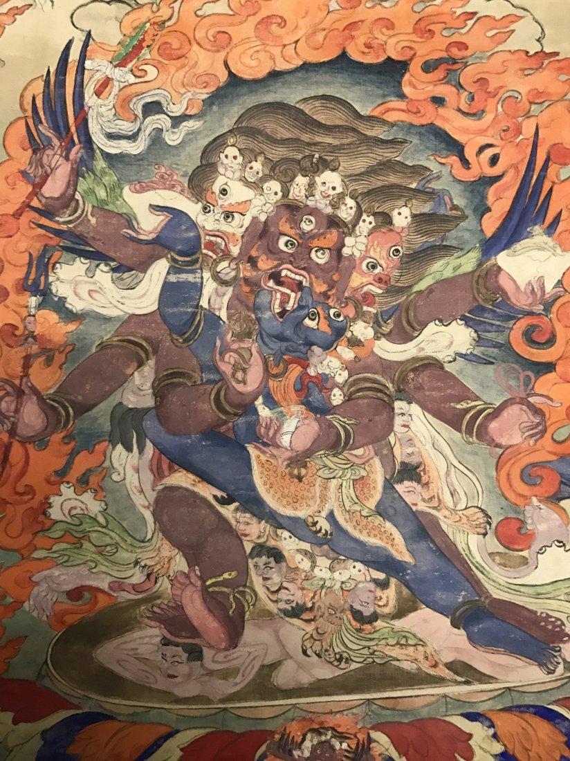 Fine Chinese 19th Century Tangka of Guardian - 2