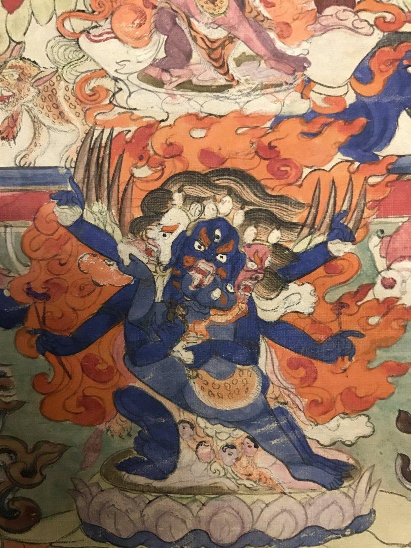 Fine Chinese 19th Century Tangka of Guardian - 3