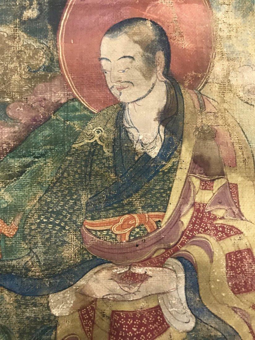Two Chinese 18th Century Tibetan Luohan Tangka - 10