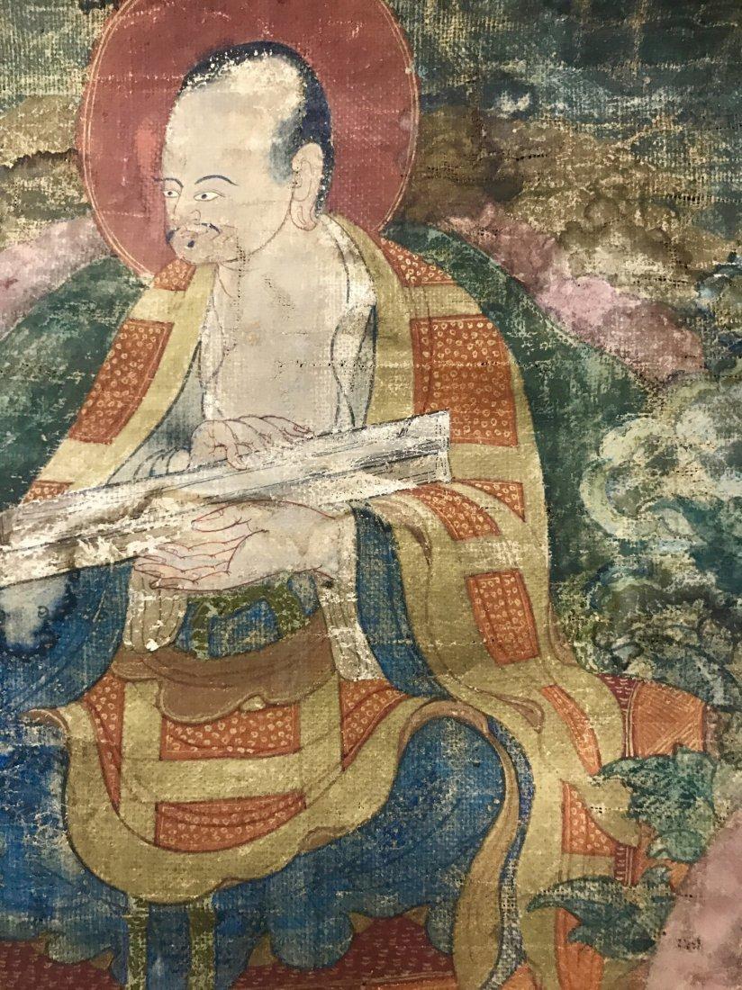 Two Chinese 18th Century Tibetan Luohan Tangka - 3