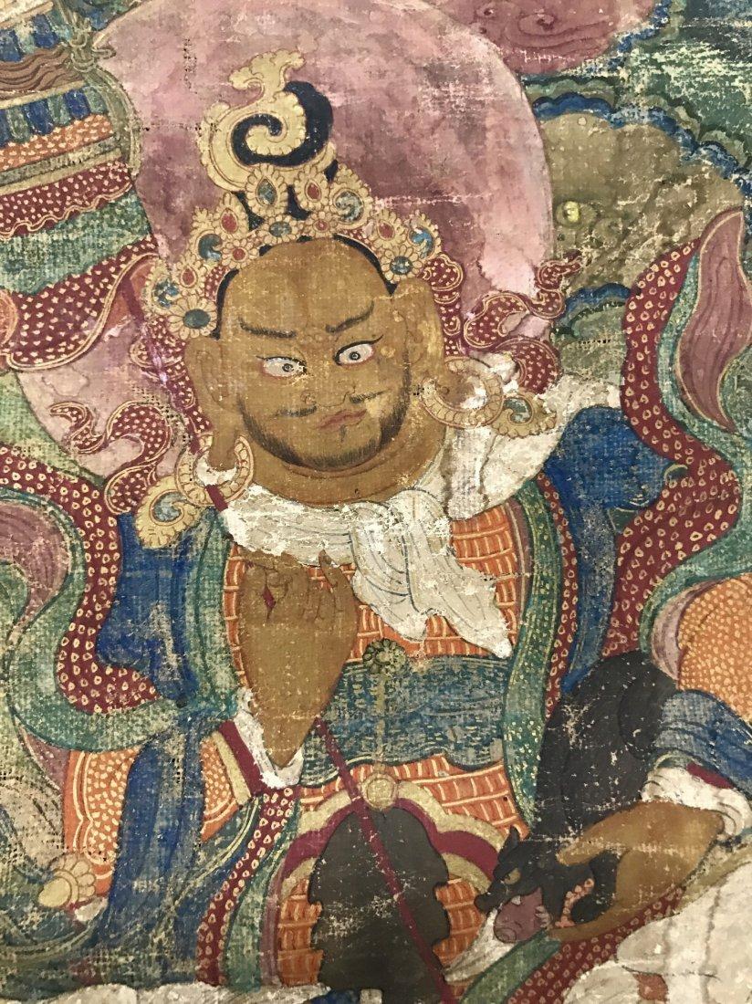 Two Chinese 18th Century Tibetan Luohan Tangka - 4