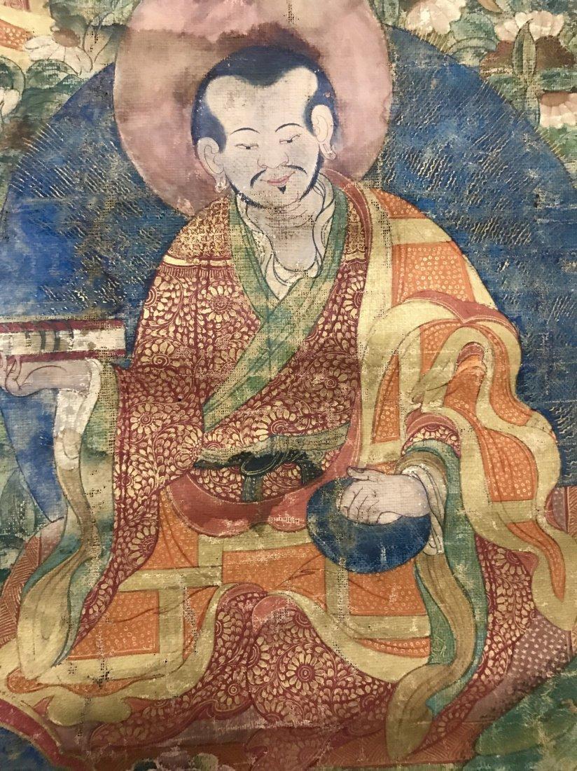 Two Chinese 18th Century Tibetan Luohan Tangka - 7