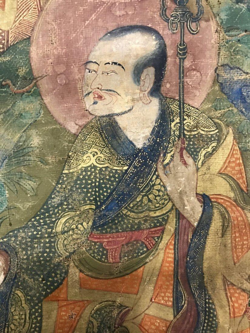 Two Chinese 18th Century Tibetan Luohan Tangka - 8