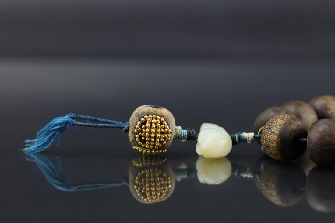 A Chinese Chenxiang Wood Bracelet - 2