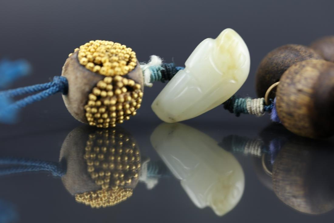 A Chinese Chenxiang Wood Bracelet - 5