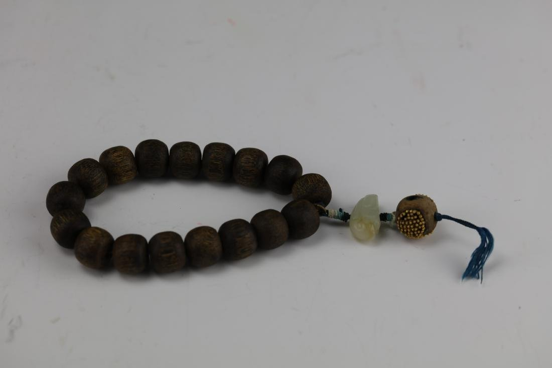 A Chinese Chenxiang Wood Bracelet - 8