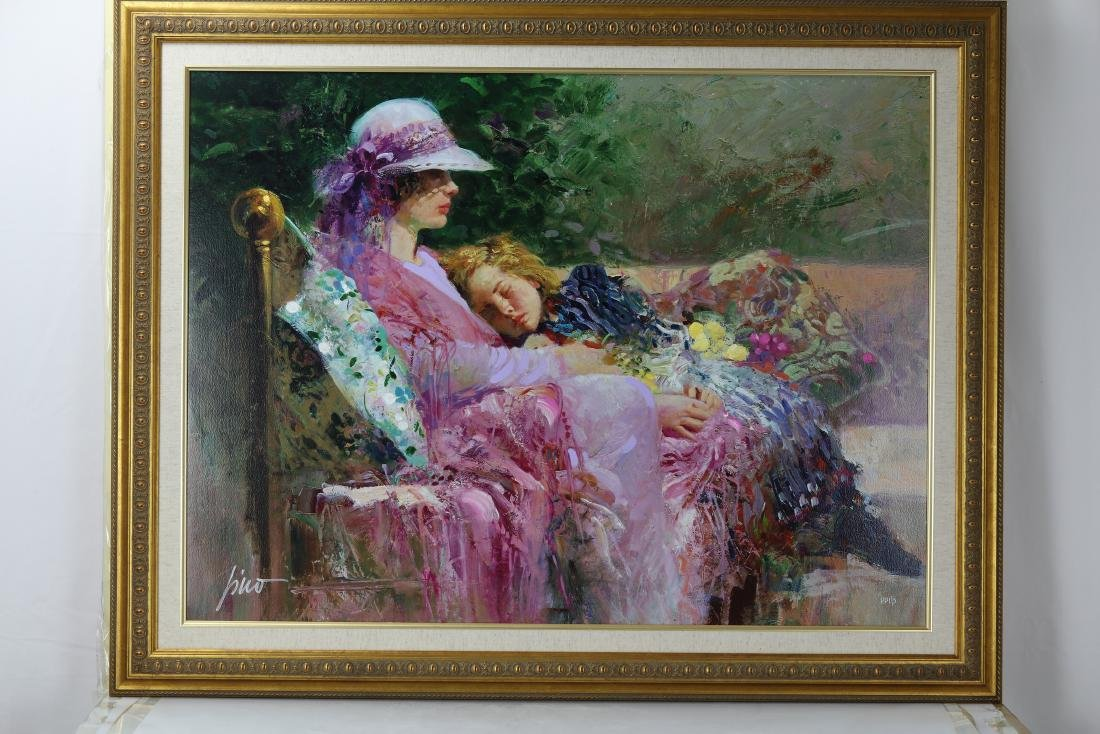 Giclee Painting of Mother and Daugter Signed Pino Daeni