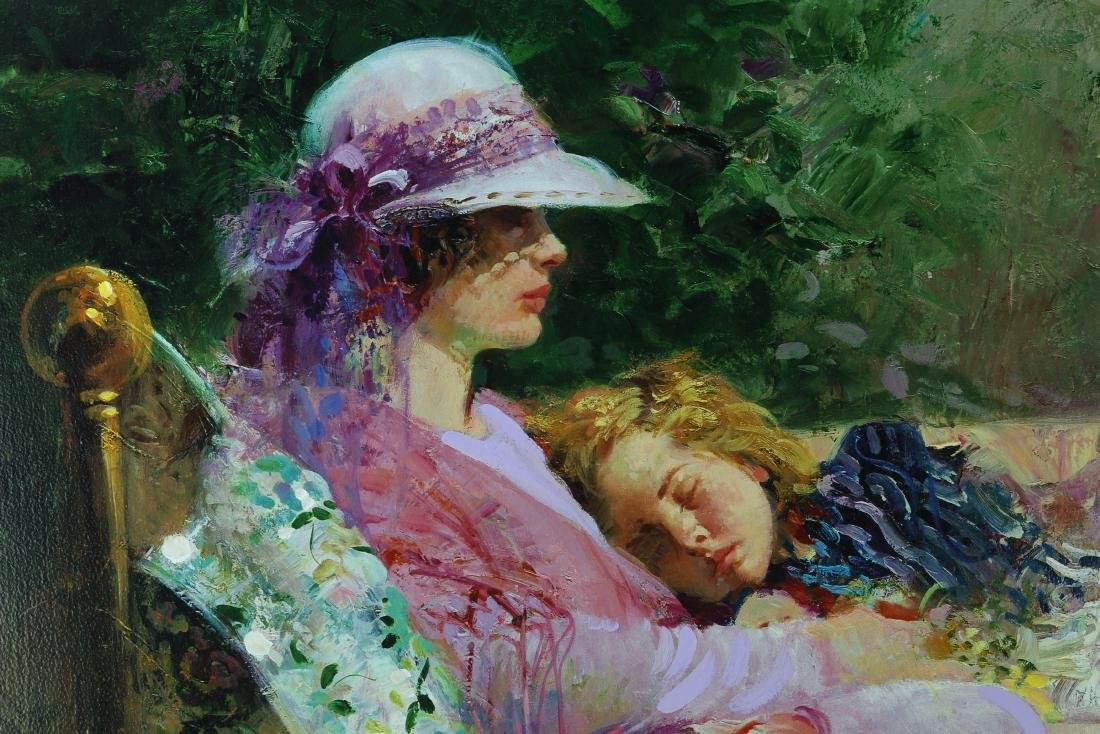 Giclee Painting of Mother and Daugter Signed Pino Daeni - 3