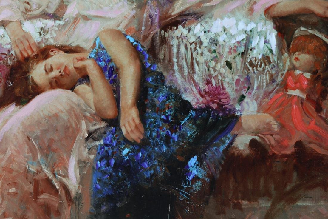 Framed Giclee  Canva Child and Mother signed Pino Daeni - 4
