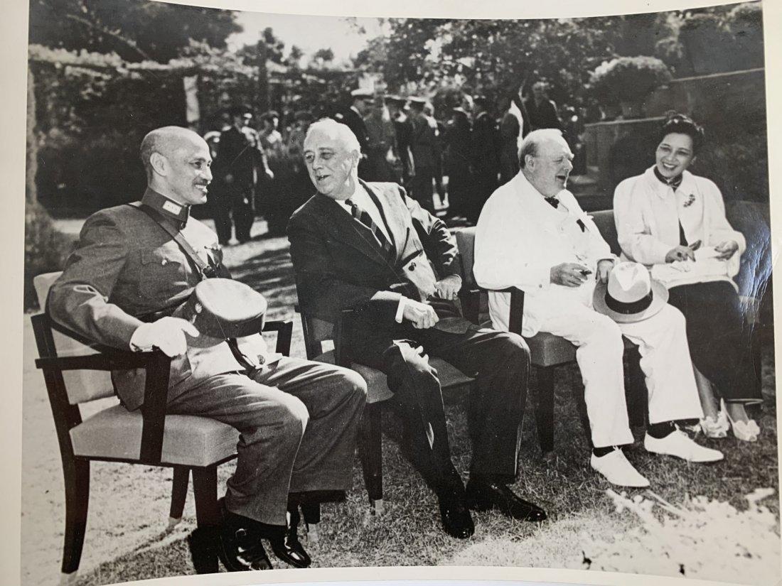 Chiang Kai-shek, Roosevelt, Churchill and Madame Chiang
