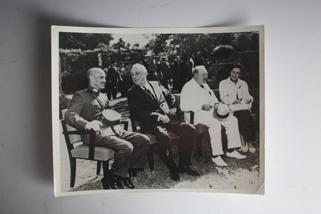 Chiang Kai-shek, Roosevelt, Churchill and Madame Chiang - 2