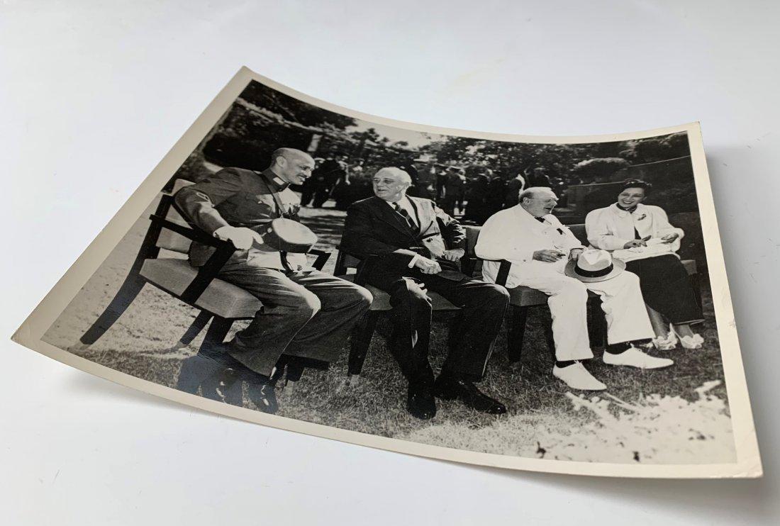Chiang Kai-shek, Roosevelt, Churchill and Madame Chiang - 3