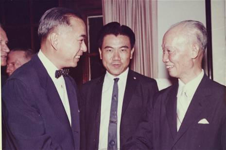 Photo of Chen Cheng and Frank Tao in USA