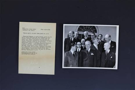 President Truman and Wei Daoming Photo with Letter
