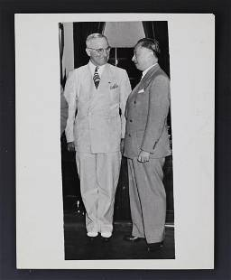 President Truman and Chinese Gu Weijun Signed Photo