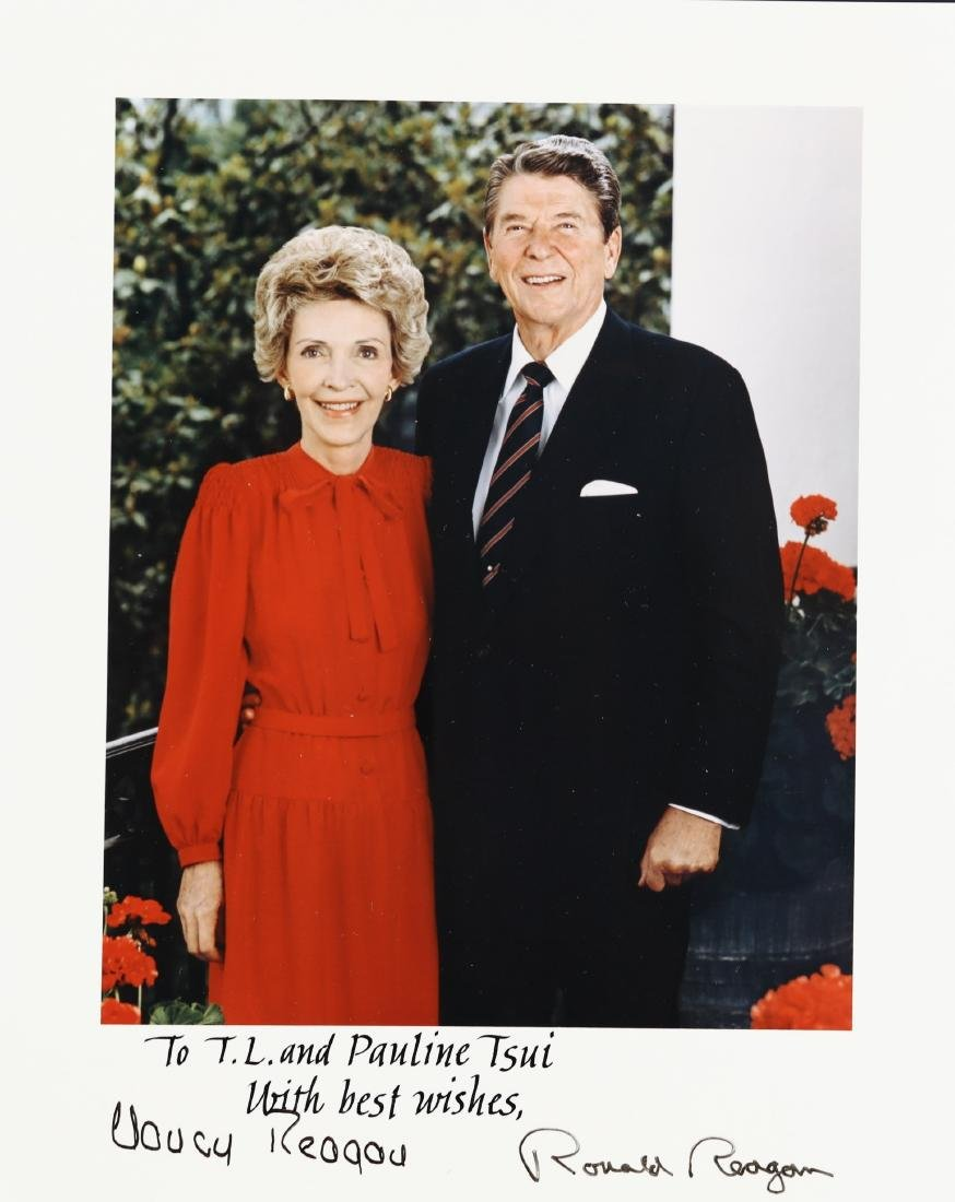 President Ronald & Reagan and Nancy Signed Photo