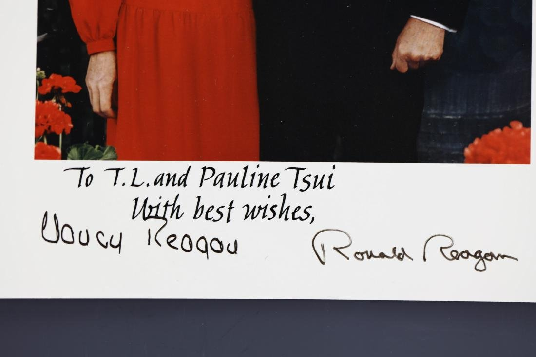 President Ronald & Reagan and Nancy Signed Photo - 2