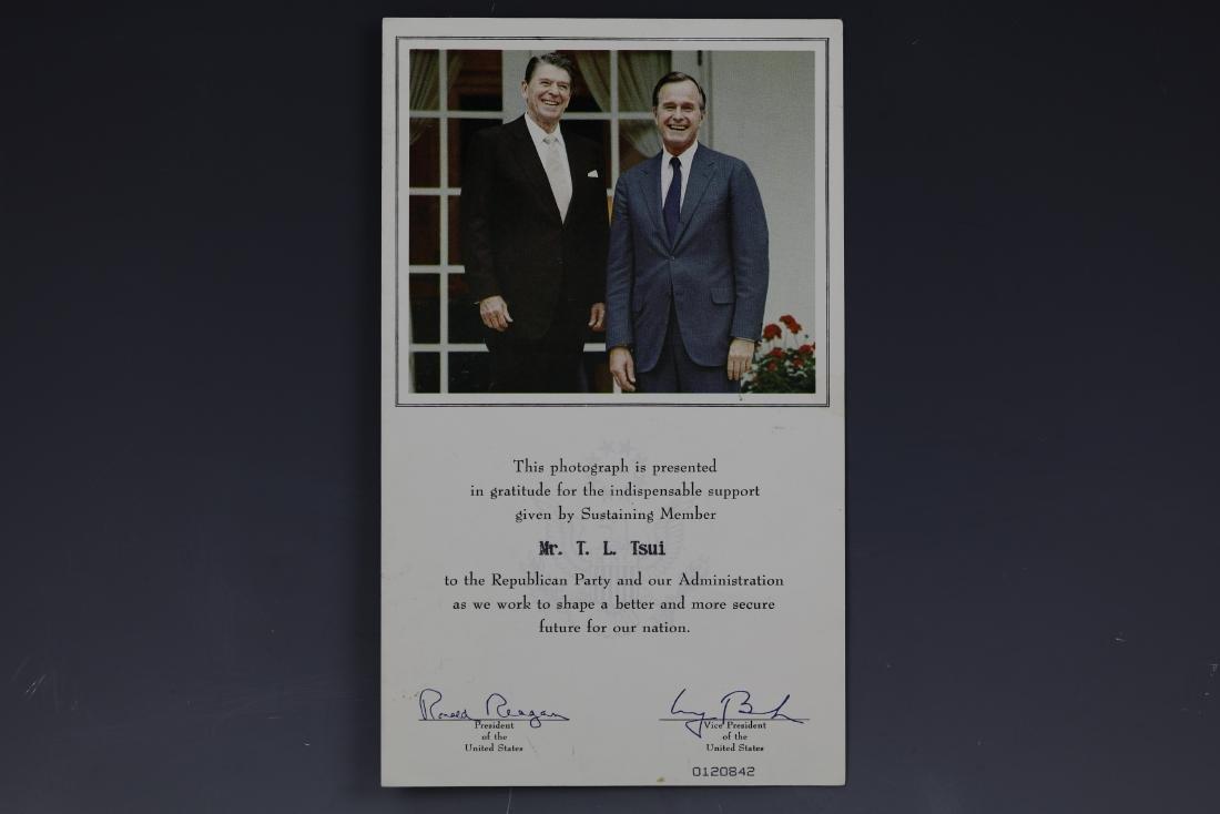 Pres. Ronald Reagan and Vice Pres. Bush Photo Signed