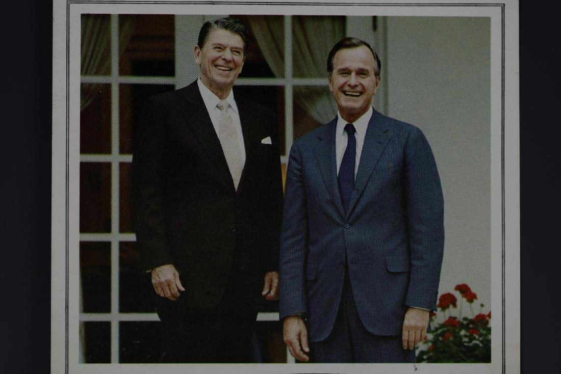 Pres. Ronald Reagan and Vice Pres. Bush Photo Signed - 2