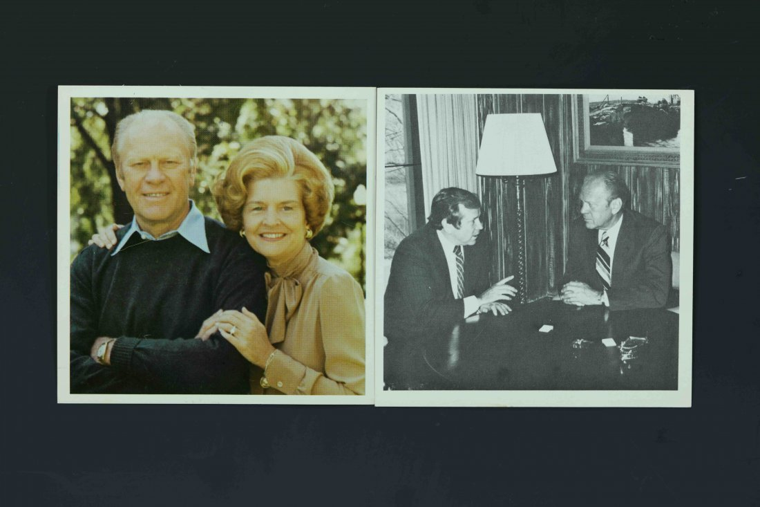 Two Gerald Ford Photo Signed