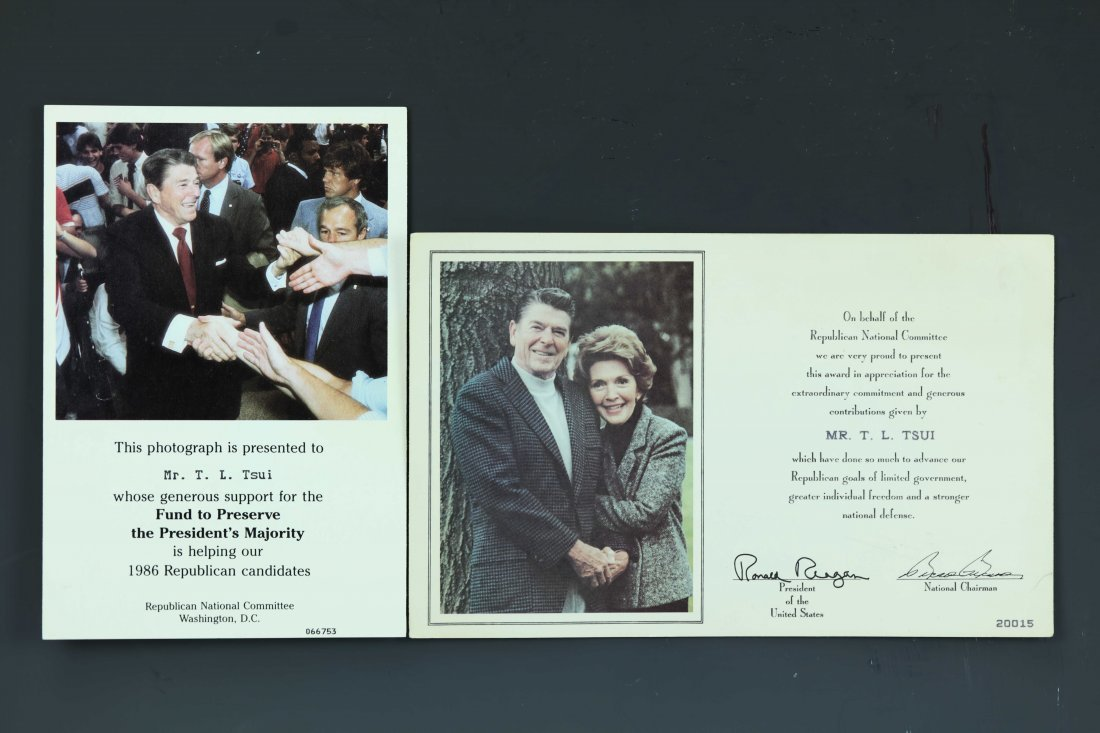 (2)President Ronald Reagan Signed Photo by Pete Souza