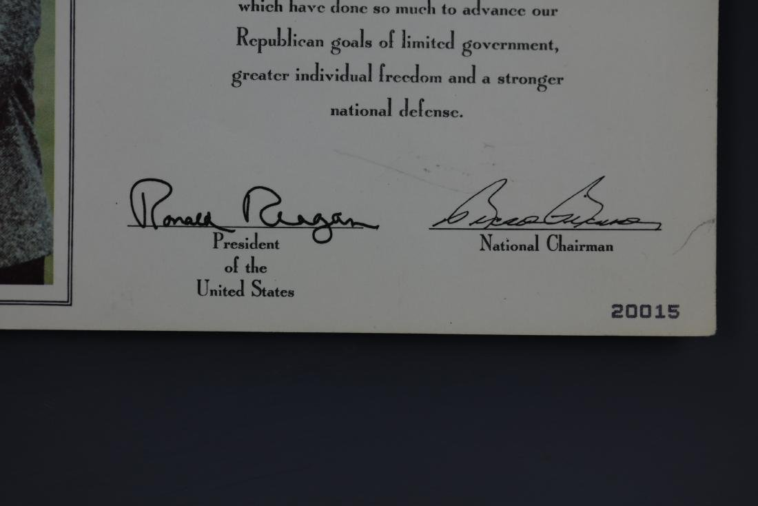 (2)President Ronald Reagan Signed Photo by Pete Souza - 2