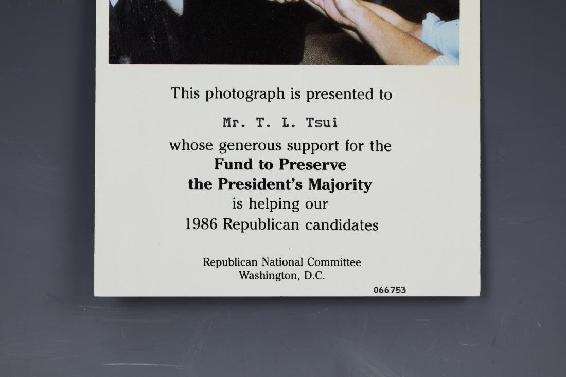 (2)President Ronald Reagan Signed Photo by Pete Souza - 6