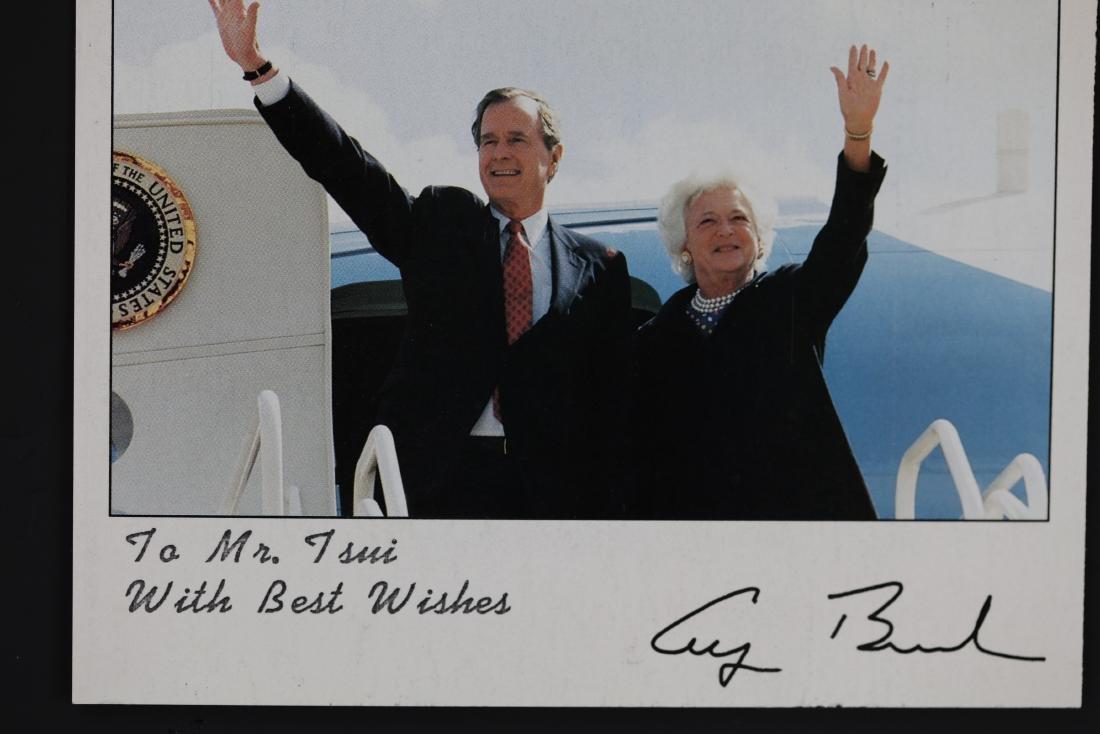 George Bush and Barbara Photo Signed by David Valdez - 2