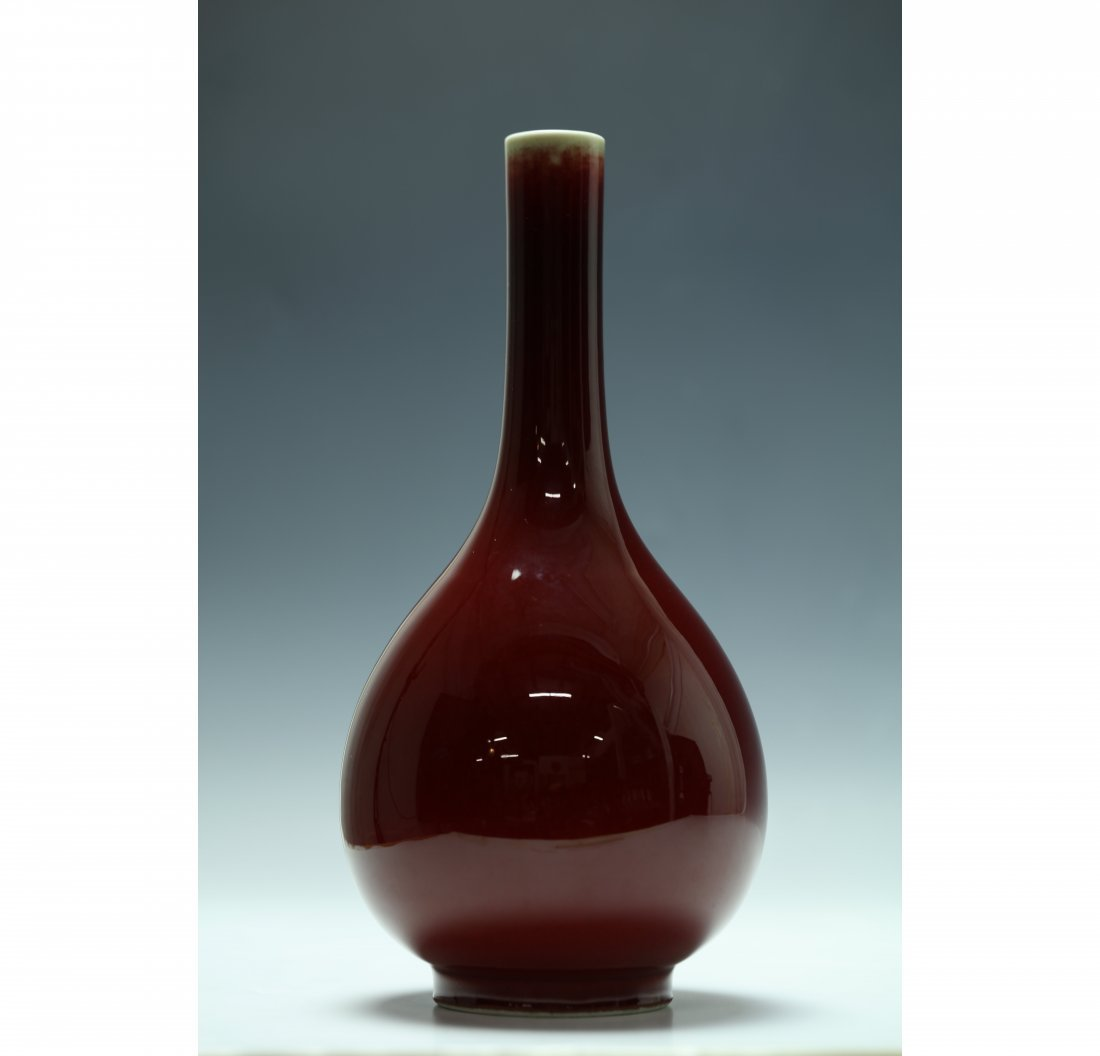 Chinese Ox-blood Porcelain Bottle Vase